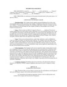 distributorship agreement template distributor agreement