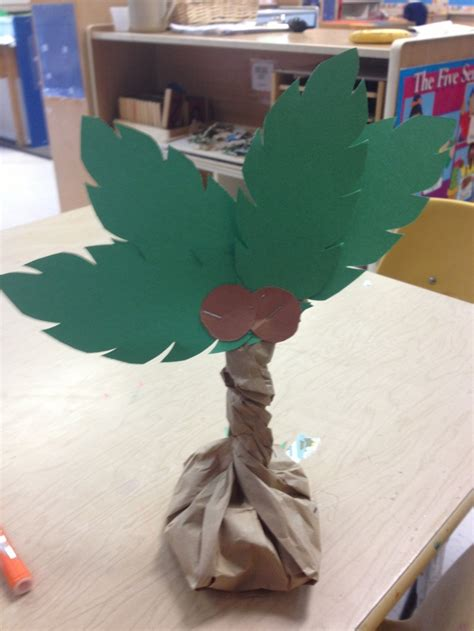 A Palm Tree Out Of Paper - palm tree craft beans in a paper bag twist and staple