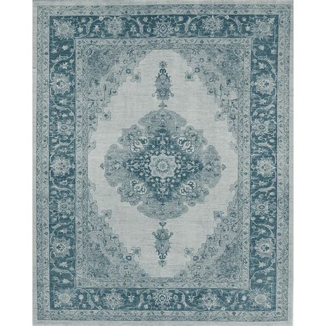 Washable Area Rugs Ruggable Washable Parisa Blue 8 Ft X 10 Ft Area Rug 160527 The Home Depot