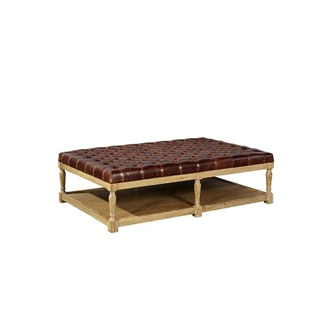Tufted Leather Coffee Table Furniture Classics 70267 Fc Accents Tufted Leather Top Coffee Table Discount Furniture At
