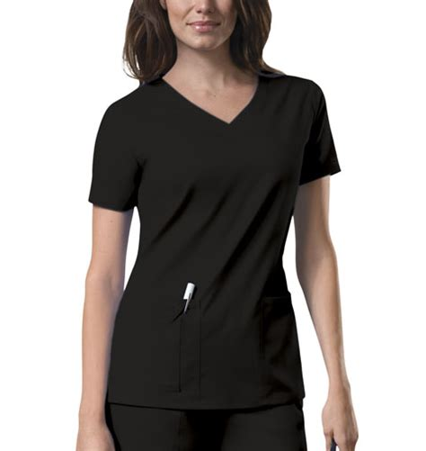 Cotton Blouse 4727 scrub top s 2 pocket v neck workwear stretch 4727 central uniforms