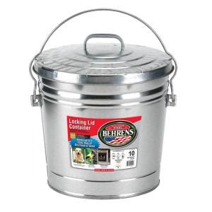 behrens 10 gal 15 in h x 16 in dia garbage pail with