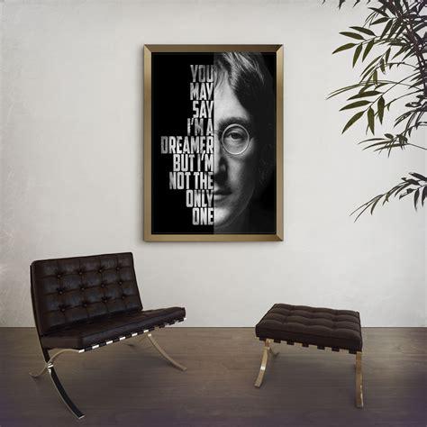 standing on couches lyrics john lennon imagine john lennon poster song lyric art