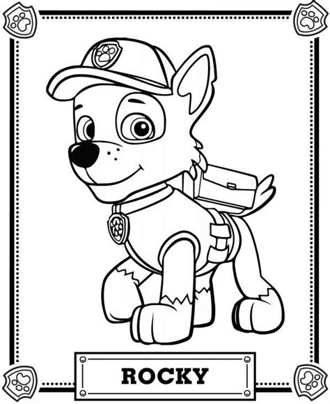 paw patrol characters coloring pages 99 best paw patrol coloring pages images on pinterest