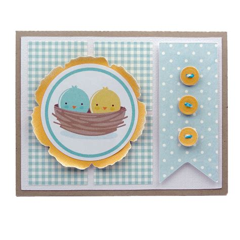 pazzle craft room nesting birds print cut card pazzles craft room