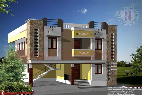 house architecture style indian house design double floor designs front elevation