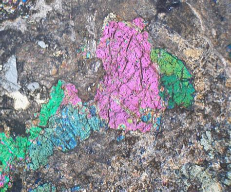 wollastonite thin section vesuvianite garnet skarn delnabo scotland thin section