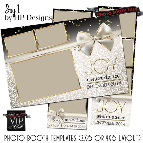 Joy 1 By Ci Creative Photo Booth Talk 4x6 Photo Booth Templates
