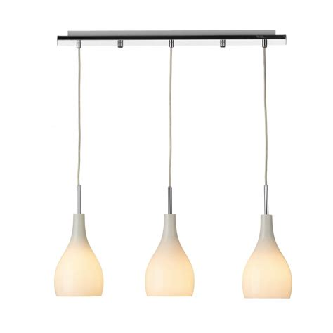 Pendants For Kitchen Island by Soho Bar Pendant With 3 Opal White Glass Lights Supended