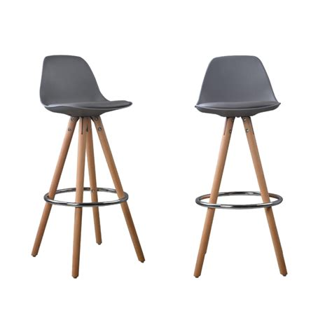 Tabourets Bar Fly by Lot De 2 Tabourets De Bar Design Scandinave Nordique