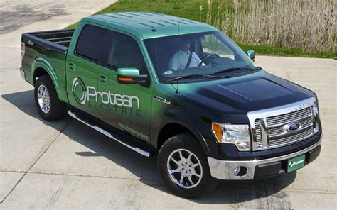 electric pickup truck driven protean ford f 150 all electric pickup truck