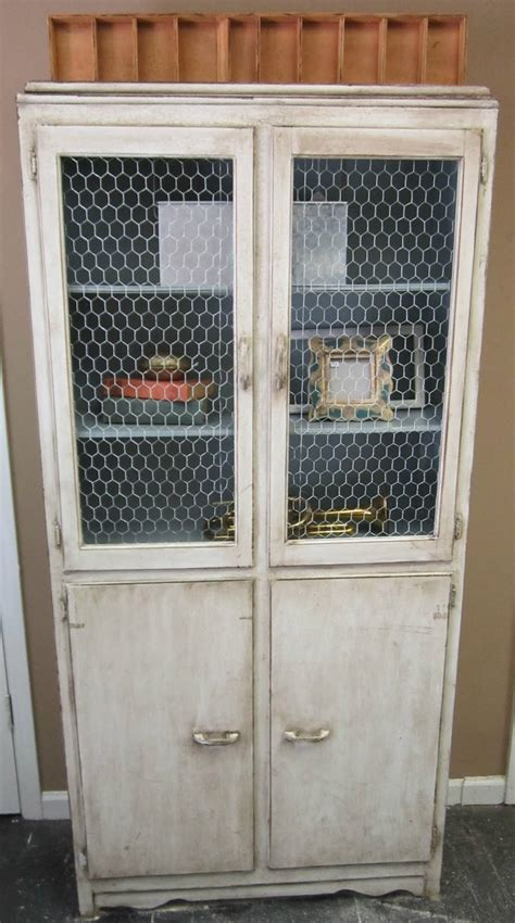 chicken wire cabinet doors vintage finds chicken wire cabinet