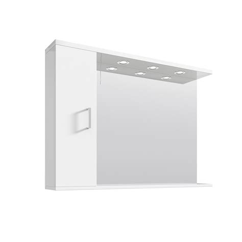 bathroom mirror with light and shelf illuminated high gloss white bathroom mirror vanity