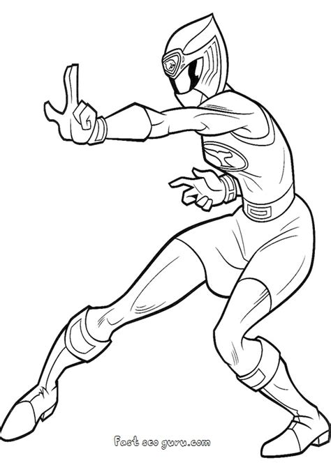 power rangers ninja storm coloring pages games printable ranger blue ninja storm coloring pages