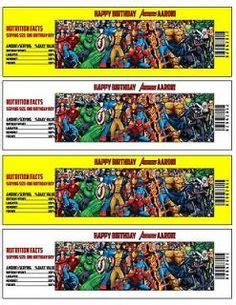 printable avengers labels 1000 images about kids party ideas on pinterest