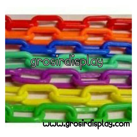 Plastik Tebal Gantungan Rantai Plastik Warna Tebal Grosir Display