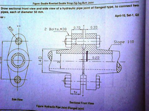 sectional views in machine drawing trust me i am an engineer jntuk mechanical 2 2 r 10