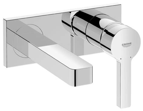 Wall Mural Shop grohe lineare wall mounted two hole basin mixer tap 19409000