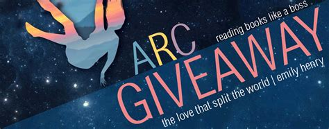 Arc Giveaway - arc giveaway the love that split the world by emily henry reading books like a boss