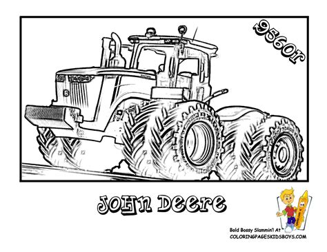 coloring pages of john deere tractors free tractors colouring jd 9560r kids pinterest tractor