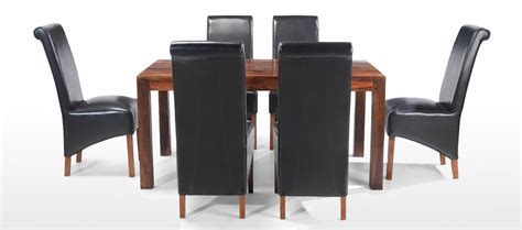 cube dining table and chairs cube sheesham 160 cm dining table and 6 chairs quercus