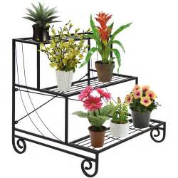 3 tier metal plant stand decorative planter holder flower