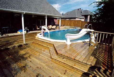 mobile home  porches   ground pool deck