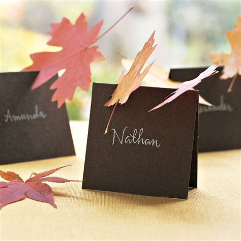 martha stewart thanksgiving place cards templates leaf place cards martha stewart