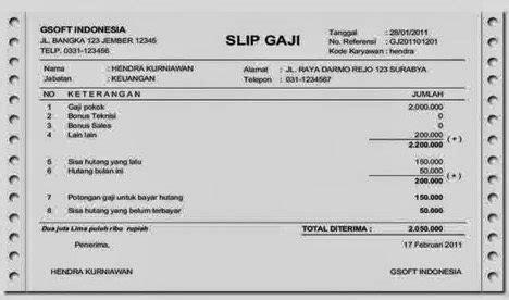 contoh slip gaji karyawan untuk pengajuan kartu kredit ini contoh lengkap slip gaji karyawan sepulsa