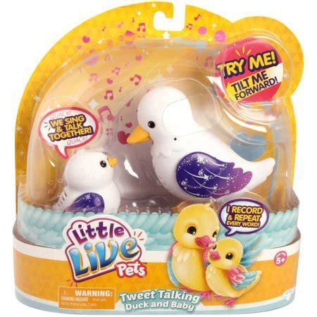 live pets baby moose toys live pets s4 tweet talking duck and baby