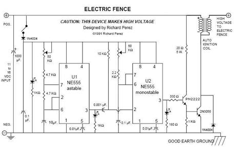 electric fencing circuit diagram electric fence circuits make circuits more electronics