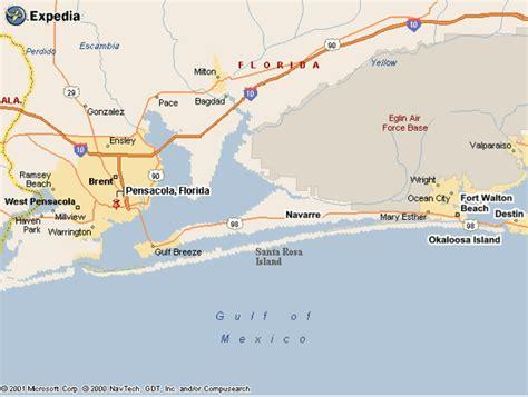map pensacola florida area florida pensacola map