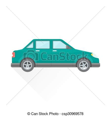 teal car clipart vectors illustration of vector flat teal saloon car