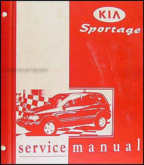 Kia Sportage Owners Manual 1998 2001 Kia Sportage Repair Shop Manual Original