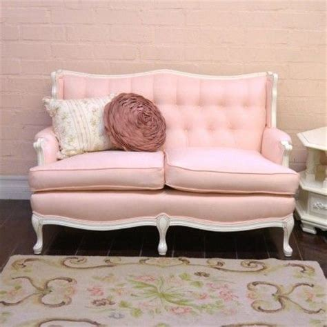Pink Linen Tufted Vintage Style Sofa 1 295 00 Pink Tufted Sofa