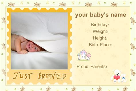 birth announcements templates free photo templates baby birth announcement