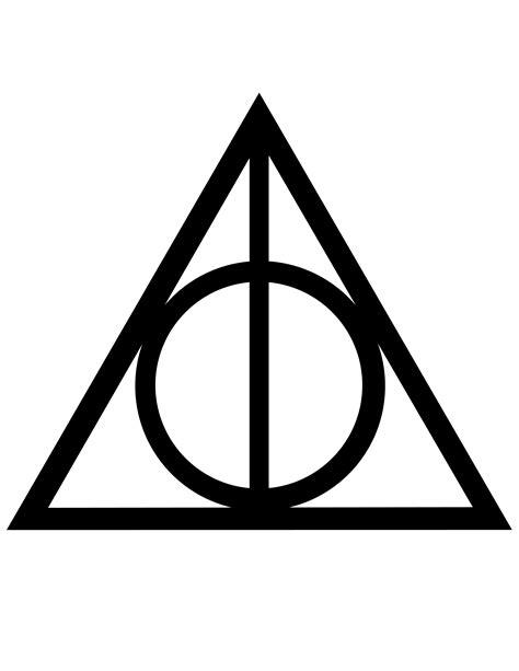 deathly hallows symbol free printable classroom