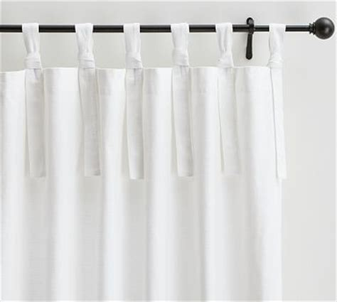 tie top curtains cotton textured cotton tie top drape 50 x 63 quot white