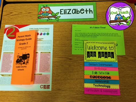 open house ideas back to school projects for second grade end of the year printables for first grade
