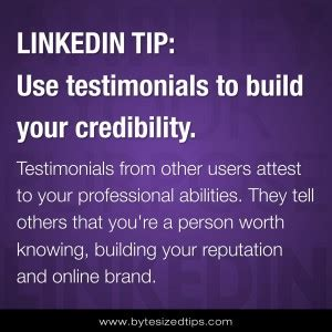 How To Search For On Linkedin Without Them Knowing Use Linkedin Recommendations To Build Your Credibility The Brand Builder Toolbox
