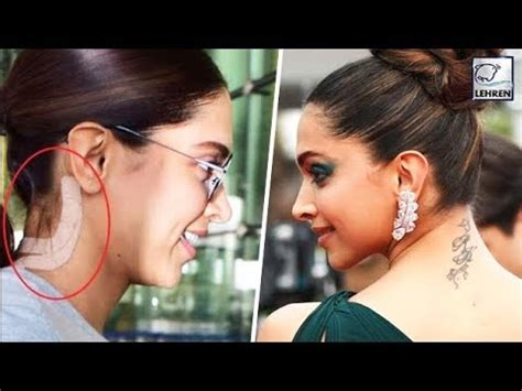 deepika padukone removes tattoo has deepika padukone removed ranbir kapoor