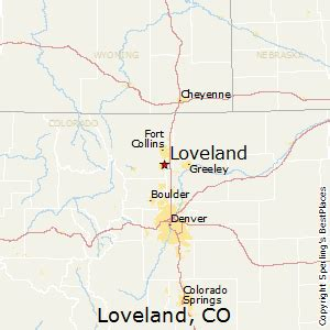 loveland colorado map best places to live in loveland colorado