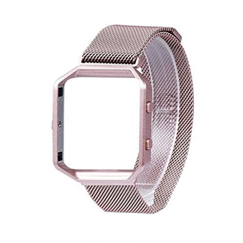 fitbit blaze band wearlizer milanese loop  band replacement stainless steel bracelet