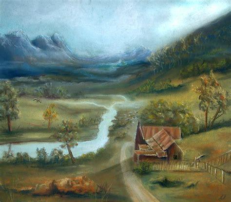 twilight painting landscape paintings leonard aitken artist