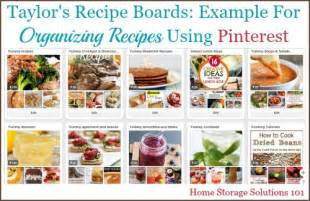 cookbook section titles organizing recipes using pinterest tips tricks