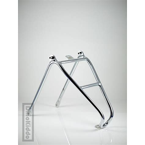 Q Rack by Brompton Chrome Aluminum Rear Q Rack Electroplated Glossy H H Dinokiddo