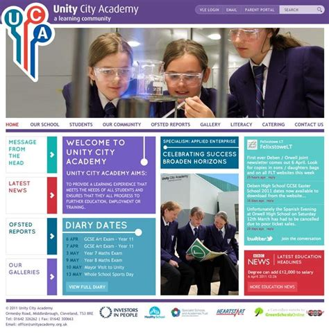 exles of purple school website design for inspiration