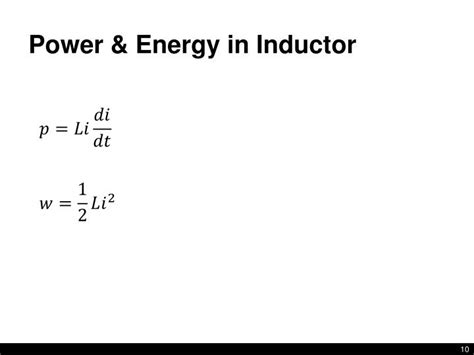 energy in inductor and capacitor ppt lecture 10 inductance capacitance nilsson 6 1 6 5 powerpoint presentation id 2182659