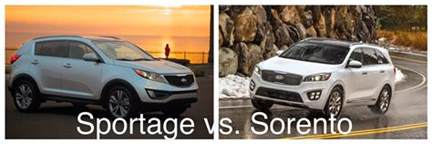 Kia Sportage Vs Sorento How They Compare 2016 Kia Sportage Vs 2016 Kia Sorento