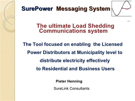 What Is Load Shedding In Power System by Power Load Shedding Communicated